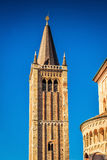 Tower on Duomo square in Parma Stock Photography
