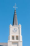 Tower of the Dutch Reformed Church in Dealesville Royalty Free Stock Photography