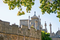 Tower East side of the Vorontsov Palace. Architectural landmark - Tower East side of the Vorontsov Palace in Alupka, Yalta, Crimea royalty free stock photography
