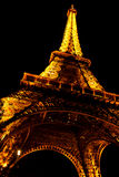 Tower Eiffel by night. In Paris, France Royalty Free Stock Image