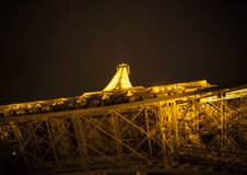 Tower of Eiffel at night in Paris, France Stock Photo