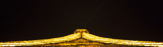 Tower of Eiffel at night in Paris, France royalty free stock photo