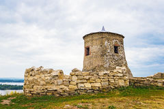 Tower in elabuga settlement. Old tower in Elabuga ancient settlement. Tatarstan. Russia Stock Images