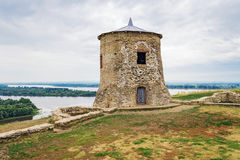 Tower in elabuga settlement. Old tower in Elabuga ancient settlement. Tatarstan. Russia Royalty Free Stock Photos