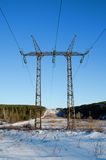 Tower of a  electric line Stock Images