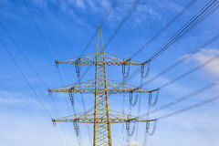 Tower for electricity in rural Royalty Free Stock Photography