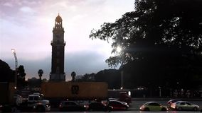 Tower of the English in Buenos Aires stock footage