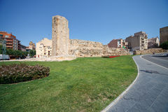 Tower era of ancient Rome in Tarragona, Spain Stock Photography