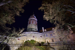 The Tower of the Český Krumlov Castle in the night. Český Krumlov Castle - Czech republic - EU Royalty Free Stock Photos