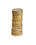 Tower from euro coins Royalty Free Stock Photo