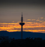 The Tower of Europe at sunset in Frankfurt, Germany Stock Photos