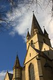 Tower of Evangelic Church Sibiu Royalty Free Stock Image