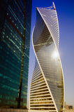 Tower evolution in the business center Moscow City Stock Photo
