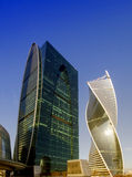 Tower evolution in the business center Moscow City Stock Photography