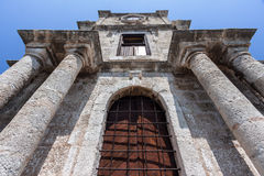 Tower Facade Rhodes Greece Stock Photos