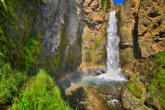 Tower Falls in Yellowstone National Park Stock Photography