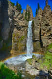 Tower Falls in Yellowstone National Park Stock Image