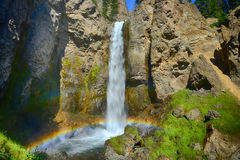 Tower Falls in Yellowstone National Park Stock Photos