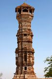 Tower of fame inside the Chittorgarh fort Stock Photo