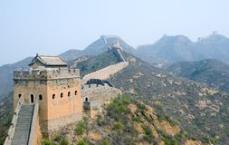 Tower of famous Great Wall in the Simatai Stock Photo