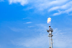 Tower with fire, Factory industrial Stock Images
