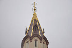 Tower of The first Russian Church from Vilnius in Lithuania Stock Image