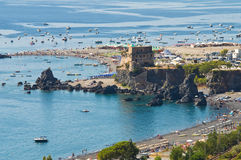 Tower of Fiuzzi. Praia a Mare. Calabria. Italy. Royalty Free Stock Photos