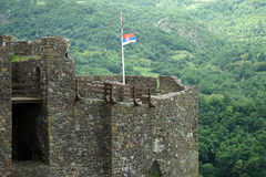 Tower and flag Royalty Free Stock Photos