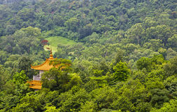 Tower in the forest in Guangzhou. Ancient tower in the forest,beautiful landscape Royalty Free Stock Image