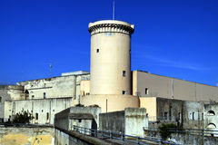 Tower  Former military prison. Tower inside  former military prison Gaeta -  Angioino - Aragonese Castle in Gaeta Italy Stock Images