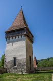 Tower of the fortified church of the Romanian town Biertan Royalty Free Stock Photos