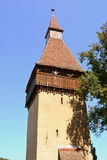 Tower in fortified medieval church Biertan, Transylvania. Royalty Free Stock Photo