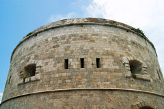 Tower a fortress Arza. Round Tower a fortress Arza, Montenegro Royalty Free Stock Photos