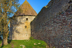 The tower of fortress Oreshek. Shlisselburg. Russia. Shlisselburg is a fortress near Saint Petersburg, Russia, situated at the head of the Neva River on Lake Royalty Free Stock Photography