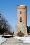 Tower fortress Royal Court. Princely Court in Targoviste is a complex of buildings and medieval fortifications that were part of residence of the Romanian stock photos