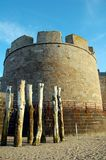 Tower of the fortress in Saint Malo Stock Images