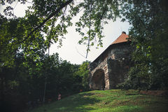 Tower of fortress in Vysehrad, Hungary Royalty Free Stock Images