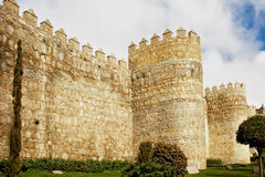 Tower of fortress wall in Avila Royalty Free Stock Photo