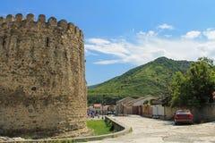 Tower of the fortress wall of Svetitskhoveli Stock Photo