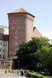 Tower of the fortress on Wawel Hill of Krakow Stock Photography