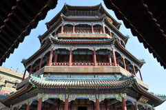 Tower of the Fragrance of the Buddha (Foxiang Ge) Stock Image