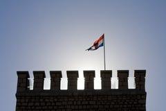 Tower of Frankopan castle in Novi Vindolski Royalty Free Stock Photos