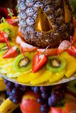 Tower of fruits Stock Photo