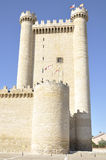 Tower of Fuensaldaña castle, Castile and Leon Spain Royalty Free Stock Photo