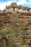 Tower and galleries in Angkor Thom, Siem Reap, Cambodia. Stock Image