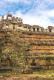 Tower and galleries in Angkor Thom, Siem Reap, Cambodia. Stock Images