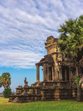 Tower and galleries of Angkor Wat Temple at morning Stock Photos