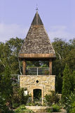 A tower in a garden. Near Madison, Wisconsin stock photo