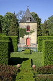 Tower in the gardens. Of eyrignac, france stock image