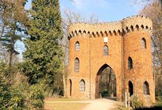 Tower gate in Brasschaat, Belgium Stock Images